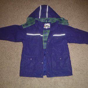 Young Children's Hooded Rain Coat Size 5/6